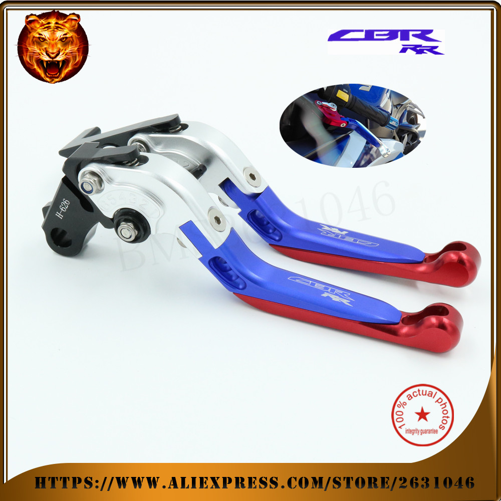 For HONDA CBR250R CBR300R CB300F CBR500R CB500F CB500X  CNC Motorcycle Adjustable Folding Extendable Brake Clutch Lever Blue for honda cbr500r cb500f x motorcycle folding extendable brake clutch levers