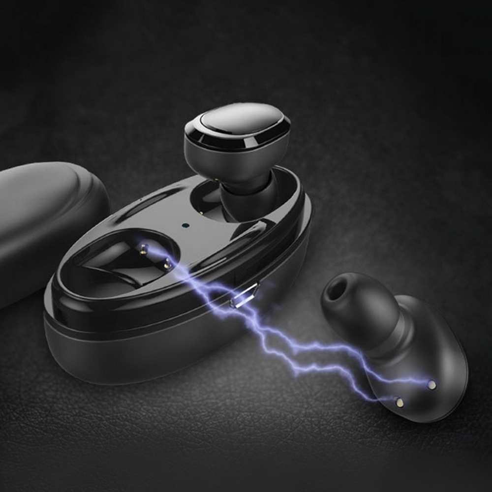 docooler T12 TWS Earphone w/ Mic Mini Stereo Wireless Headphones Bluetooth Sports Earbuds BT5.0 Headsets Support Hands-free Call