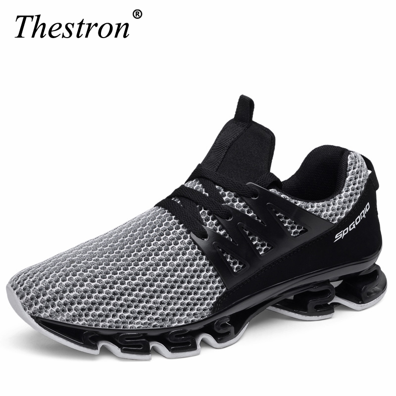 Plus Size Men Running Shoes Mesh Breathable Light Sport Shoes Red Sneakers Man Black  Mens-Athletic-Shoes Men's Trainers Shoes