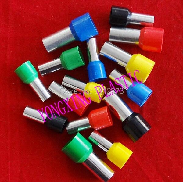 25 шт./партия, E50-20, набор наконечников для обжимной разъем для проводов, Изолированный Шнур, концевой терминал, 5 цветов