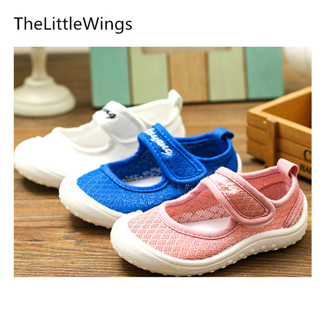 2018 spring Summer new Fashion girls boys shoes Korean version of the British style han edition shoes Flat Net cloth breathable Girl's Shoes