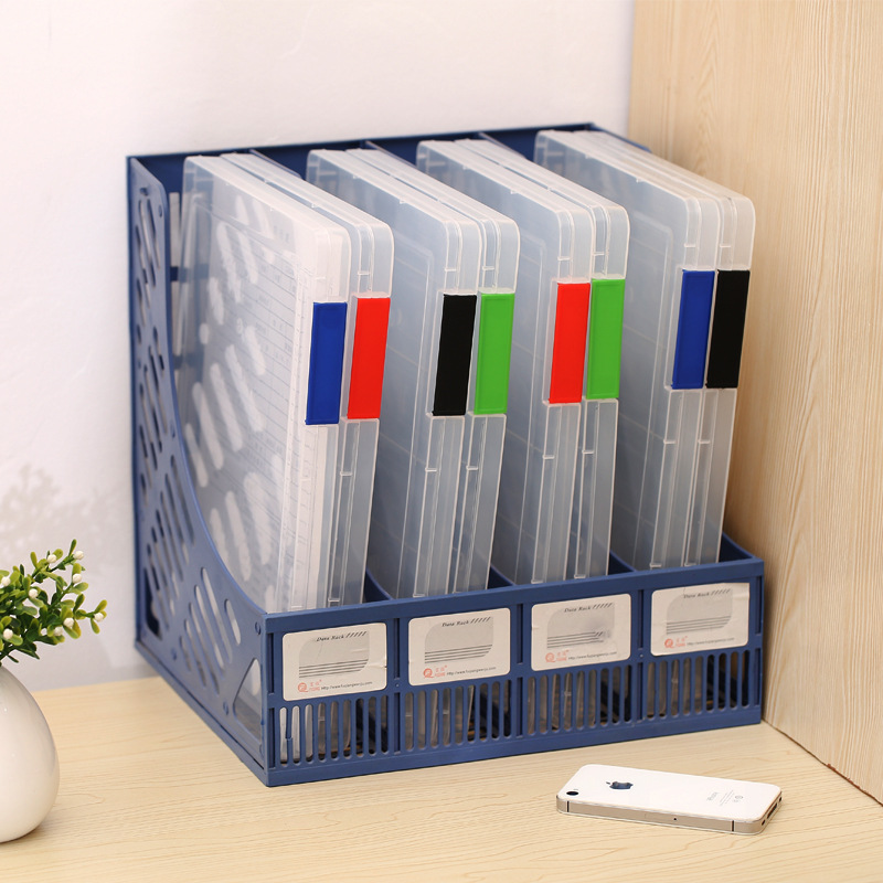 Portable Folder Plastic A4 File Storage Box Transparent Sorting File  Box(China)