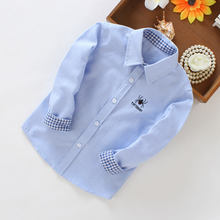 casual autumn shirts for boys full sleeve turn-down collar tops spider print clothes teenage school uniforms shirt 3t 4t 8 12 13