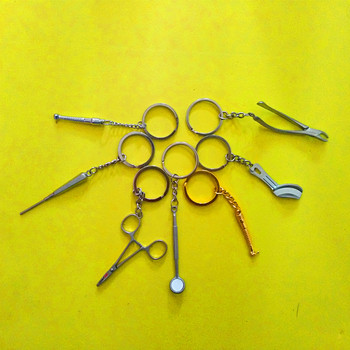 35 Pcs Dental Keychain Personalized Keyring Lab Keychains Tooth Keyring Tool keyfob Dentist Keychain Clinic Gift