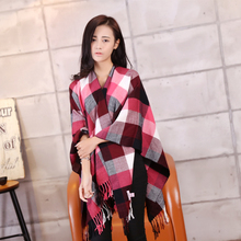 Winter 2015 font b tartan b font plaid scarf scarf Designer new designer men s basic