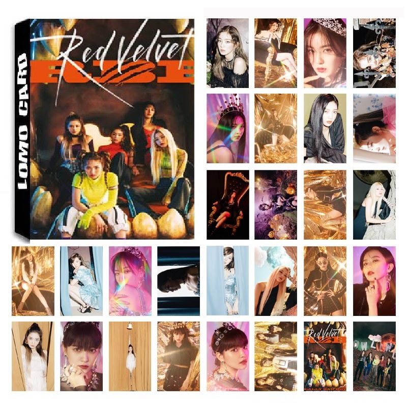 New 30Pcs/set KPOP Red Velvet 04 Album Photo Card PVC Cards Self Made LOMO Card Photocard
