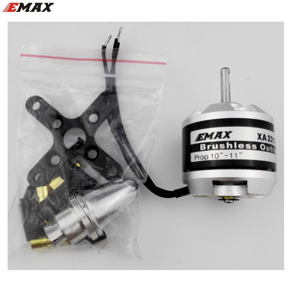 4pcs EMAX brushless motor 820kv 980kv 1400kv outrunner for rc rotary-wing fixed-wing  push back FPV aircraft delta wing parts 4pcs 6215 170kv brushless outrunner motor with hv 80a esc 2055 propeller for rc aircraft plane multi copter