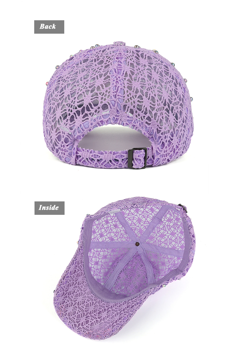 84f42eda499ab Details about AKIZON Brand New Arrival Snapback Women Lace With Rhinestone  Hotdrilling