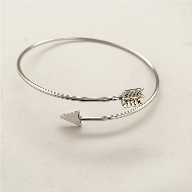 20pcs/lot European and American minimalist creative Bangle Bracelet personality arrow Bracelet (can be adjusted)