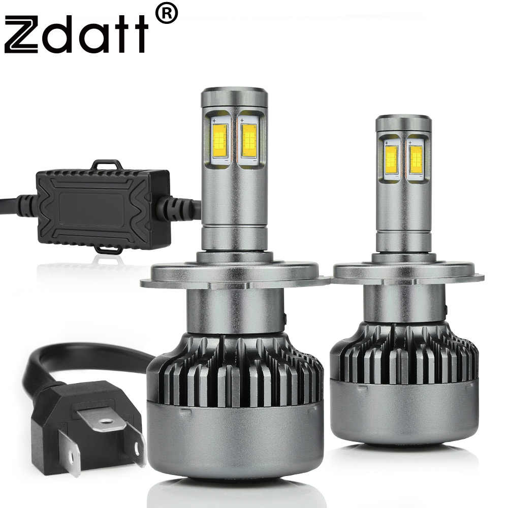 Zdatt H7 Led Headlights H4 H11 9004 9005 9006 9007 9008 Bulb Light 12v 6000k 100w 14400Lm CSP Leds Bulbs Canbus Car Automobiles