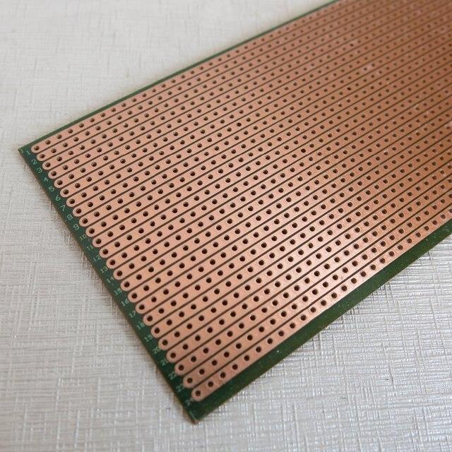 5 pcs/lot Stripboard Veroboard vero prototype imprimer Circuit Board 6.4x14.4 cm 2.54mm planche à pain livraison gratuite avec suivi nombre