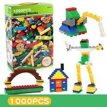 1000Pcs DIY City Creative Bricks Bulk Sets LegoINGLs Building Blocks Creator BasePlate Parts Toys for Children Christmas Gifts цены