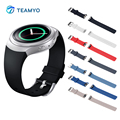 Pulseira de silicone colorido para samsung gear s2 watch band elegante silicone strap substituição r720 relógio acessórios