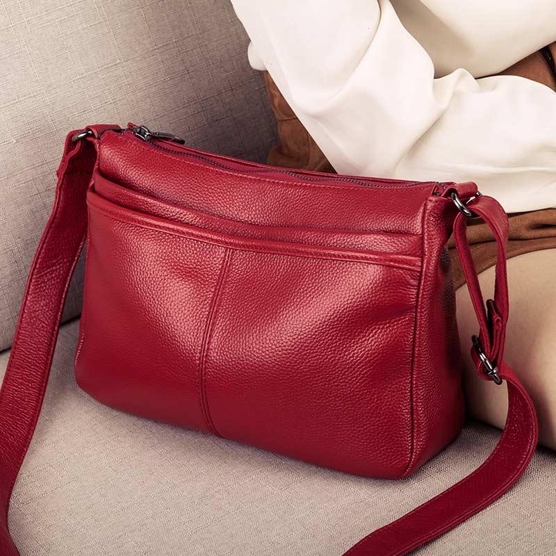 Bagaj ve Çantalar'ten Omuz Çantaları'de Hakiki Deri Crossbody Çanta kadınlar için Lüks Çanta Moda Bayan Alışveriş Tote omuzdan askili çanta Kadın Çanta postacı çantası'da  Grup 2
