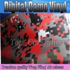 1 52x10m Roll Digital Camo Car Vinyl Wrap Red Black White Urban Sticker Bomb Camouflage Printed