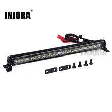 Lâmpada de teto led trx4, barra de luz para teto rc crawler traxxas 1/10 trx 4 scx10 Trx 4 & scx10 ii 90046 90047