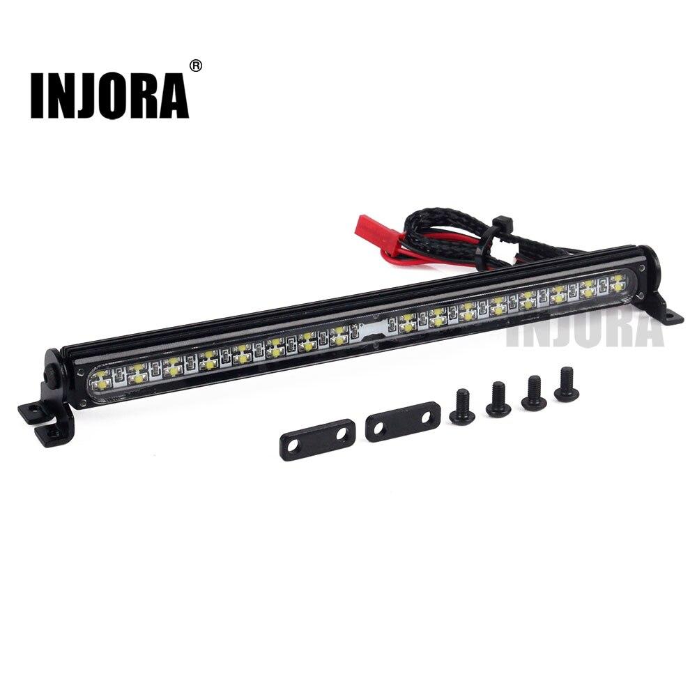 Trx4 Metal lámpara de techo LED luz Bar para 1/10 RC Crawler Traxxas Trx-4 Trx 4 SCX10 90027 y SCX10 II 90046, 90047