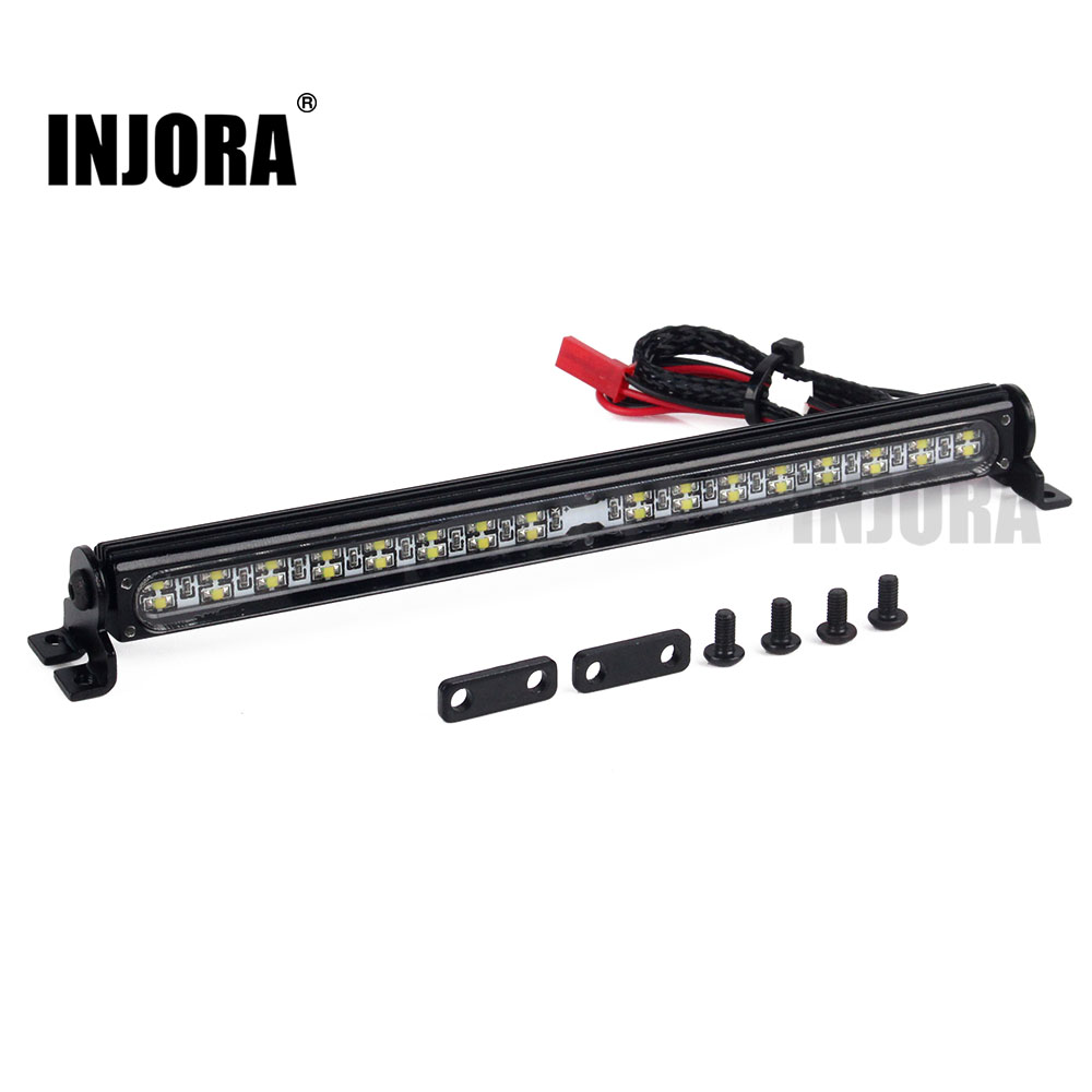 Trx4 металлическая Светодиодная лампа на крышу, световая панель для 1/10 RC Crawler Traxxas Trx 4 Trx 4 SCX10 90027 & SCX10 II 90046 90047rc4wd d90rc led light barrc led bar -