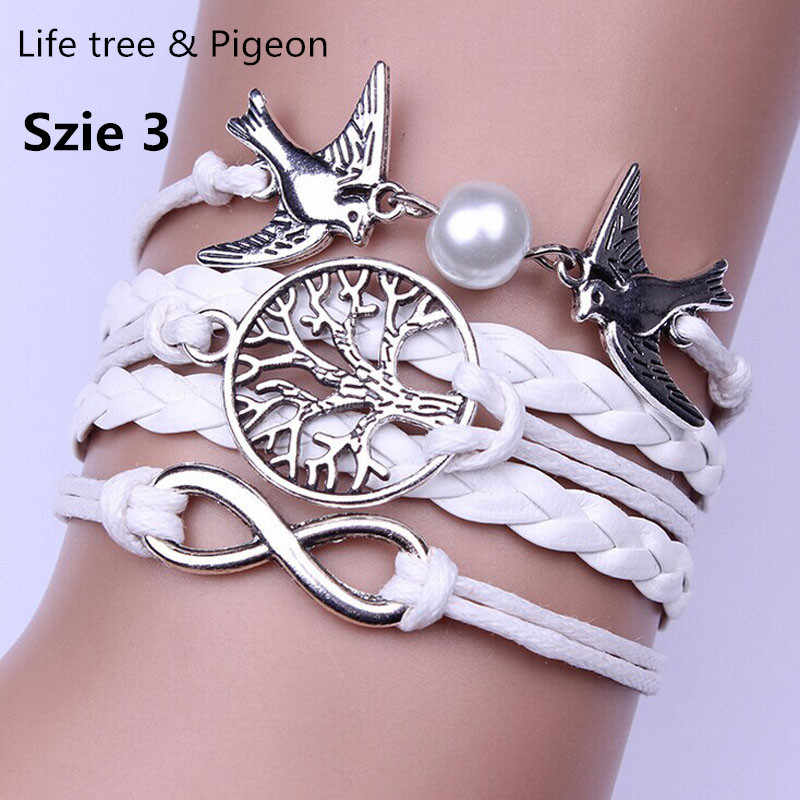 Infinity Handmade Adjustable Pigeon Leather Multilayer Bracelet Wristband Exquisite Jewelry Accessories Bracelets Fine Wristband