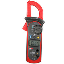 Digital Clamp Multimeter UNI-T UT201 LCD Clamp Meter AC DC Voltage Current Clamp Meter Resistance Auto Range Clamp Meter все цены