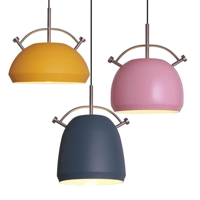 Модные Цветные современные деревянные подвесные светильники Lamparas минималистский дизайн абажур светильника Обеденная светильники, Подвесная лампа