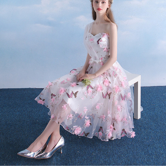 Butterfly Bow Prom Dress