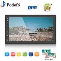 Podofo Android Bluetooth Car Radio 7'' 2 Din Touch Screen WIFI GPS MP5 Multimedia Player FM Car Stereo Rear Camera Autoradio