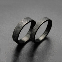 цена на MQUPIN  Black Couple Rings  Matte Rings For Women Men StainlessSteel Classic Engagement Wedding Bands Titanium Steel Ring Couple
