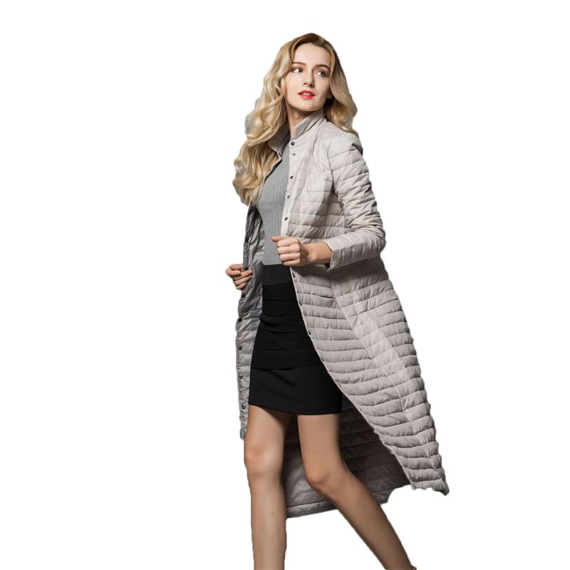 2018 New Winter Ultra Light Women   Down   Jackets Stand Collar Long Women's loose   Down   Warm Female   Down     Coats   Long Parkas J760
