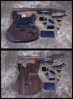 Starshine Electric Guitar Kits DK UST10 ST Style Zebra Wood DIY Guitar