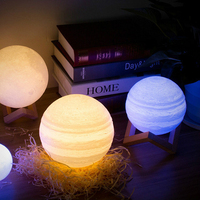Night Light Moon Lamp Warm White RGB Moon Light 2 Colors 16 Colors 3d Printed Moon