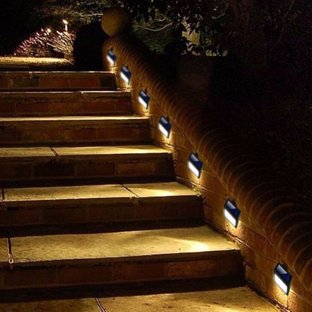 Us 13 99 Solar Ed Wall Light 6 Led Mount Garden Path Lamp Step Lights Outdoor Patio Gutter Fence Lighting For In