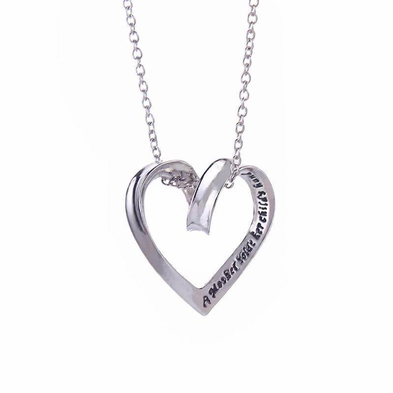 f311bdbc8 Love Heart Mom Pendant Necklace Engraved A Mother Holds Her Child's Hand  Necklace Fashion Collar Necklace Jewelry-in Pendant Necklaces from Jewelry  ...