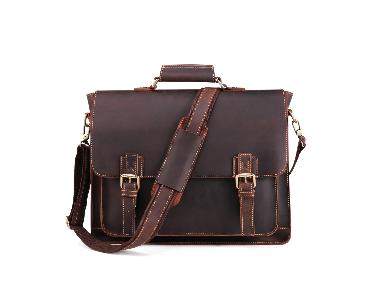 04483ba3b554 High Quality Genuine Leather Mens Bags Men s shoulder bag For Male Tote  Crossbody Bags Men s Briefcase Laptop 15 Messenger Bag