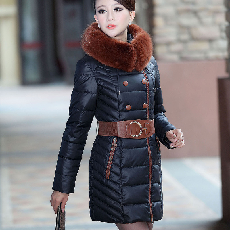 medium long Slim elegant jacket coat women winter 2013 plus size thick warm cotton-padded wadded jacket outerwear L-XXXL D2150 цены онлайн