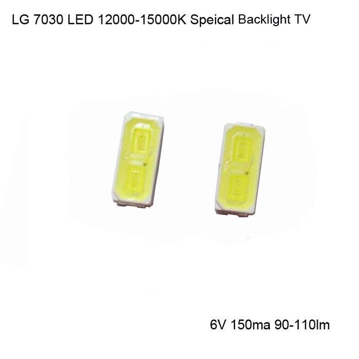 Original LG Innotek LED 100Pcs Backlight 1W 7030 6V Cool White TV Application Fast Delivery