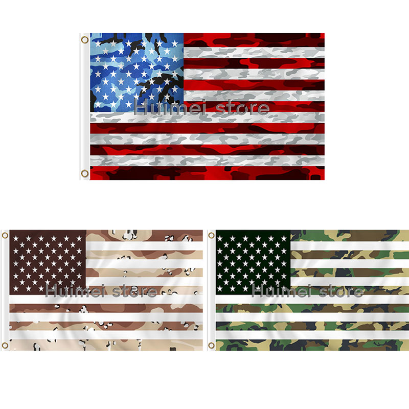 CUSTOM Line American USA Flag 3x5 foot Stars and Strips Brass Grommets  Camouflage decoration flag banner e23feb1a97a