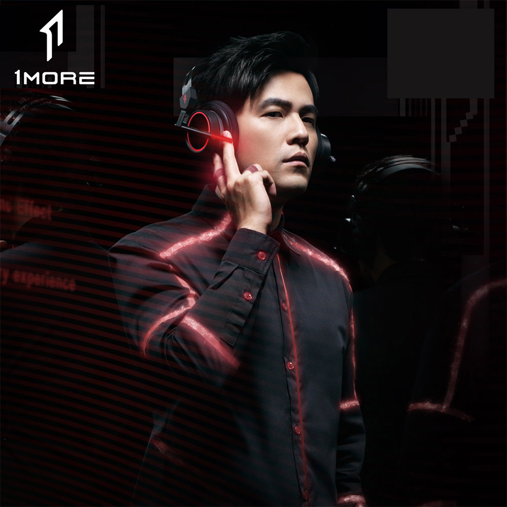 1MORE H1005 USB Gaming Headset 7 1 Surround Sound Game Headphones LED Light Earphone with Microphone