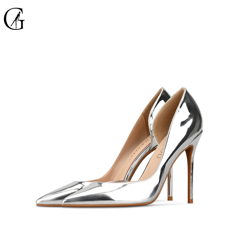 GOXEOU 2019 Women Pumps size32-46 Thin High Heels Sexy Pointed Toe Sequined Cloth Wedding Office Handmade  Free ShippingGOXEOU 2019 Women Pumps size32-46 Thin High Heels Sexy Pointed Toe Sequined Cloth Wedding Office Handmade  Free Shipping