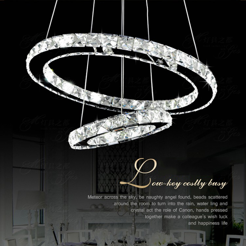Us 34 08 29 Off Modern Chandelierledcrystal Ring Chandelier Crystal Light Fixture Suspension Lumiere Led Lighting Circles Lamp90 260v In