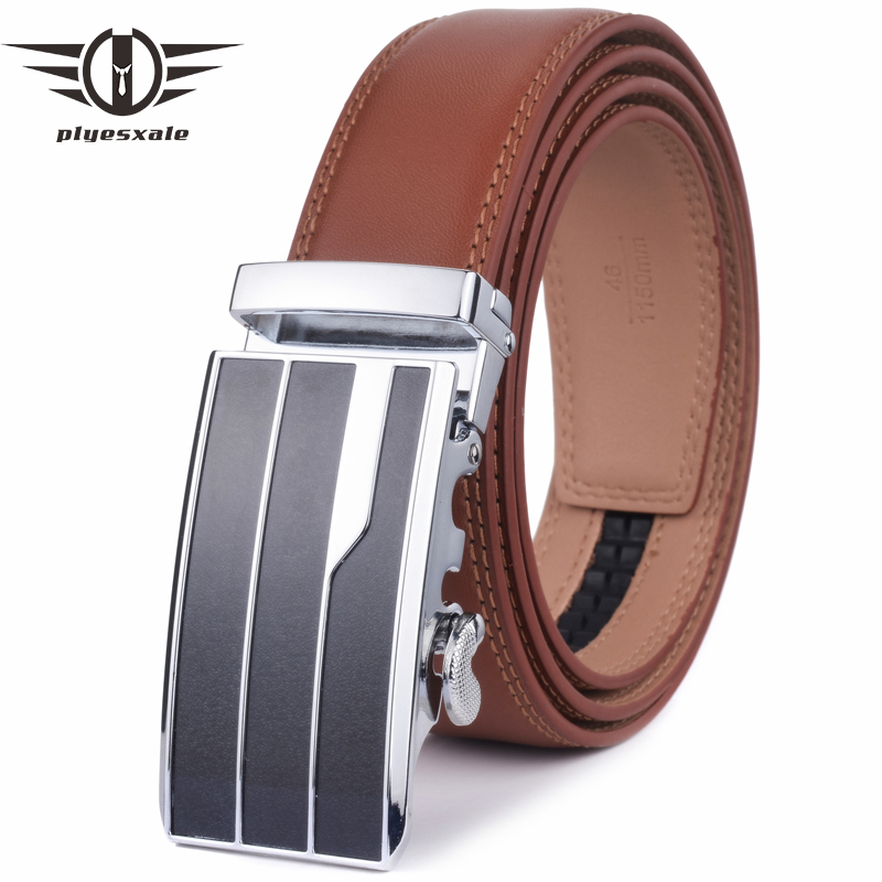 Apparel Accessories Intellective Plyesxale Automatic Buckle Belt Men Luxury Mens Genuine Leather Dress Belts Male Brand Cowhide Belt Elegant Classic Cinto G36