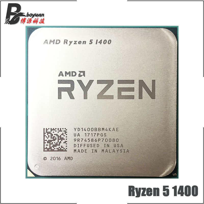 AMD Ryzen 5 1400 R5 1400 3.2 GHz Quad Core CPU Processor YD1400BBM4KAE Socket AM4-in CPUs from Computer & Office