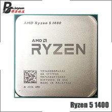 AMD Ryzen 5 1400 R5 1400 3.2 GHz dört çekirdekli İşlemci YD1400BBM4KAE soket AM4