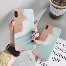 Oil painting sea wave beach phone case For iphone XS MAX XR 6 6s 7 8plus fashion soft shell X back cover