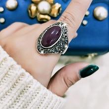 SINLEERY, винтажные уникальные кольца с фиолетовым опалом и камнем для женщин, античные серебряные вечерние кольца с черным кубическим цирконием Jz164 SSC
