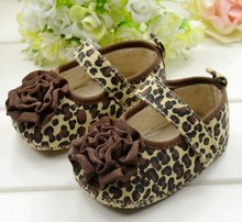 Top New Fashion Leopard Flower Kids Footwear Bow Princess Newborn Baby First Walker Shoe Toddler Baby Girl Infant BX17