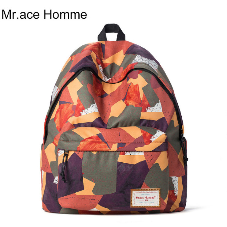 Mr Ace Homme brand Nylon Red School Backpack Waterproof Female Back Pack 14 Inch Laptop High