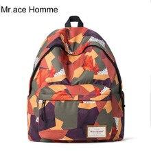 Mr. ace homme бренд нейлон красный рюкзак школы Водонепроницаемый женский рюкзак 14 дюймов ноутбука Высокое качество дизайнерские рюкзаки