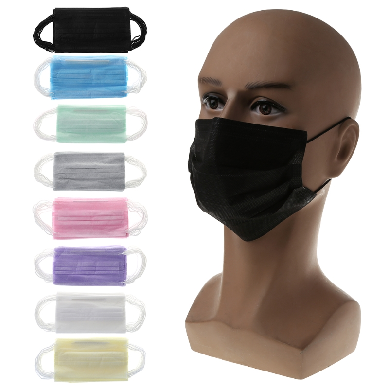 20Pcs Disposable Medical Surgical Anti Dust Ear Loop Face Mouth Masks Unisex Non Woven Fabric Mouth Mask For Hair Coloring