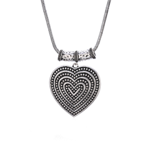 все цены на Vintage Hollow Out Heart Pendant Necklace Retro Love Long Link Necklace Sweater Chain Jewelry Women Charm Party Birthday Gift онлайн
